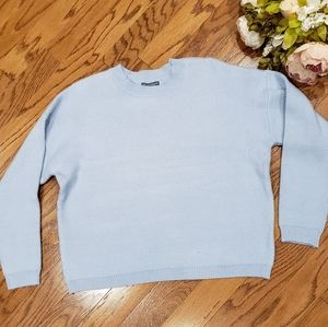 Anthropologie Chelsea Theodore Light Blue Sweater